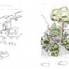 Proposition d'aménagement paysager des stationnements