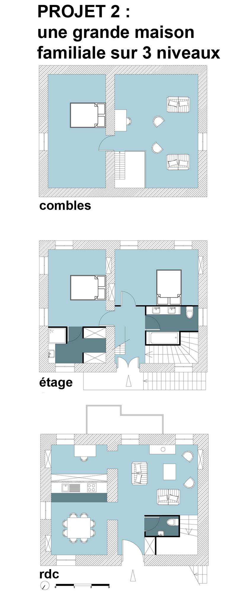 Plan D'une Maison En Etage Deux Niveaux