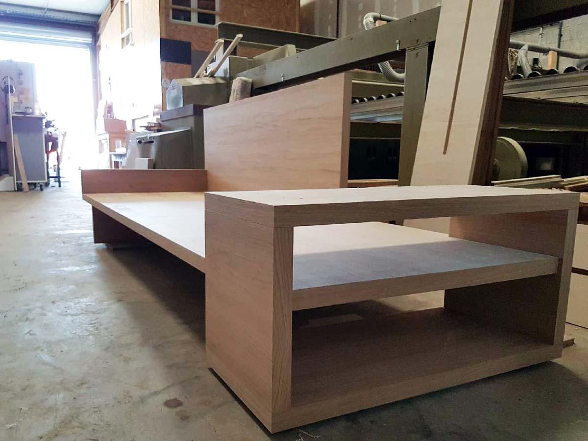 canapé design corse, fattu in corsica, working wood design | atelier rnb