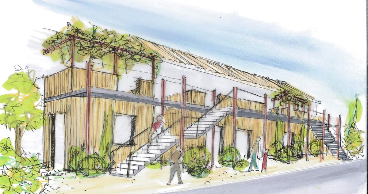 Construction d 39 un immeuble d 39 habitation de dix logements for Immeuble bureaux structure bois