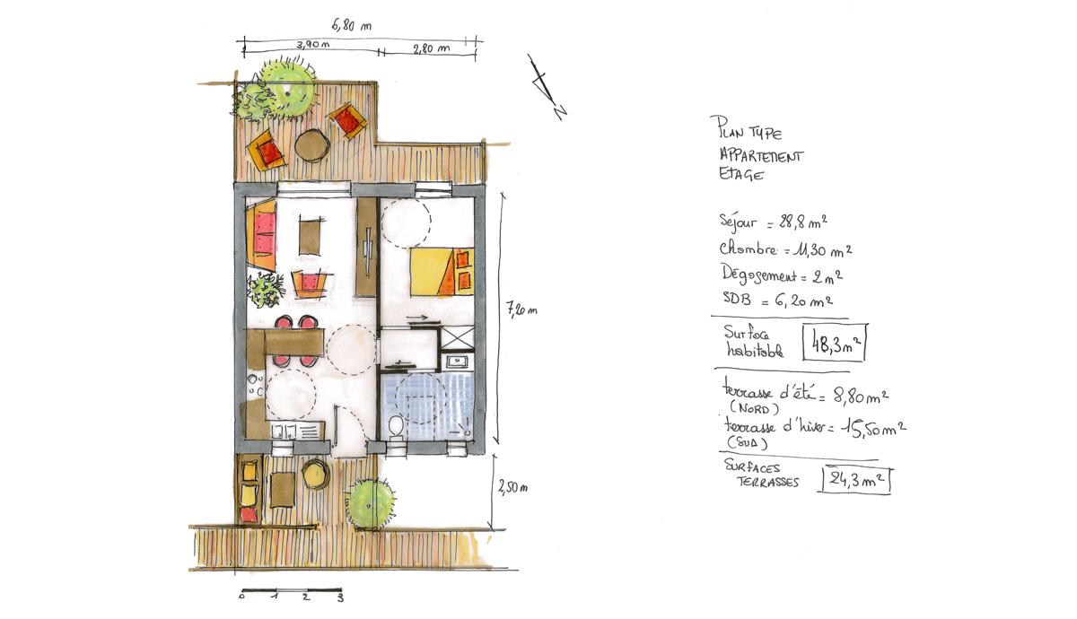 construction d 39 un immeuble d 39 habitation de dix logements atelier rnb atelier rnb. Black Bedroom Furniture Sets. Home Design Ideas