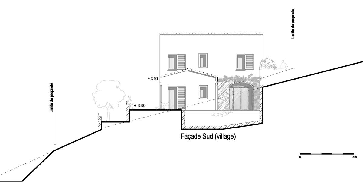 maison contemporaine inspir e de l 39 architecture villageoise atelier rnb. Black Bedroom Furniture Sets. Home Design Ideas