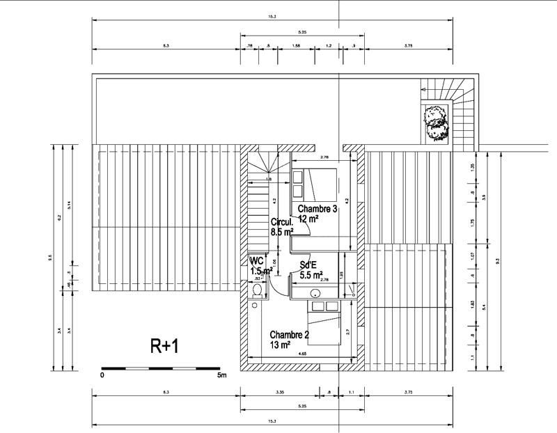 Maison contemporaine inspir e de l 39 architecture for Budget construction maison 100m2