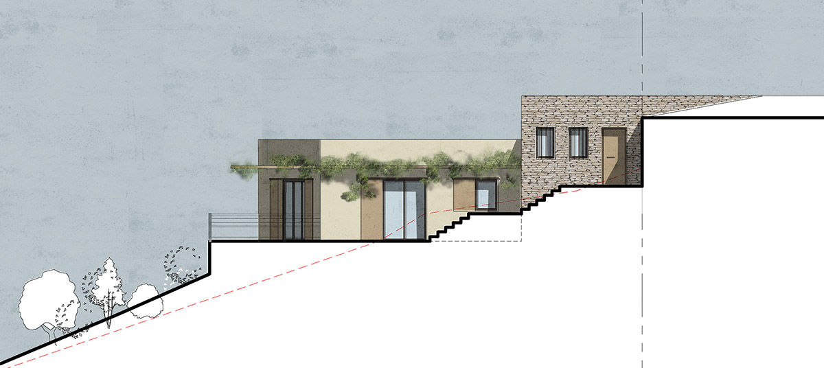 Architecture contemporaine corse int gr e et for Blog construction maison pierre