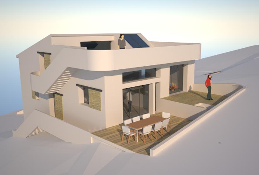 maison en pente forte tk87 humatraffin. Black Bedroom Furniture Sets. Home Design Ideas