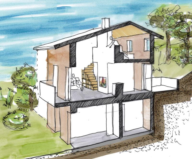 Autoconstruction En Pis Pour Une Maison  BiliaCorse Du Sud