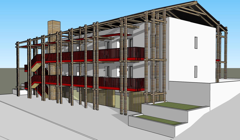 construction d 39 un immeuble ossature bois et paille nergie passive atelier rnb. Black Bedroom Furniture Sets. Home Design Ideas