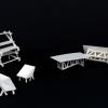 Maquette des differents mobiliers