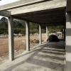 la terrasse et sa pergola en beton