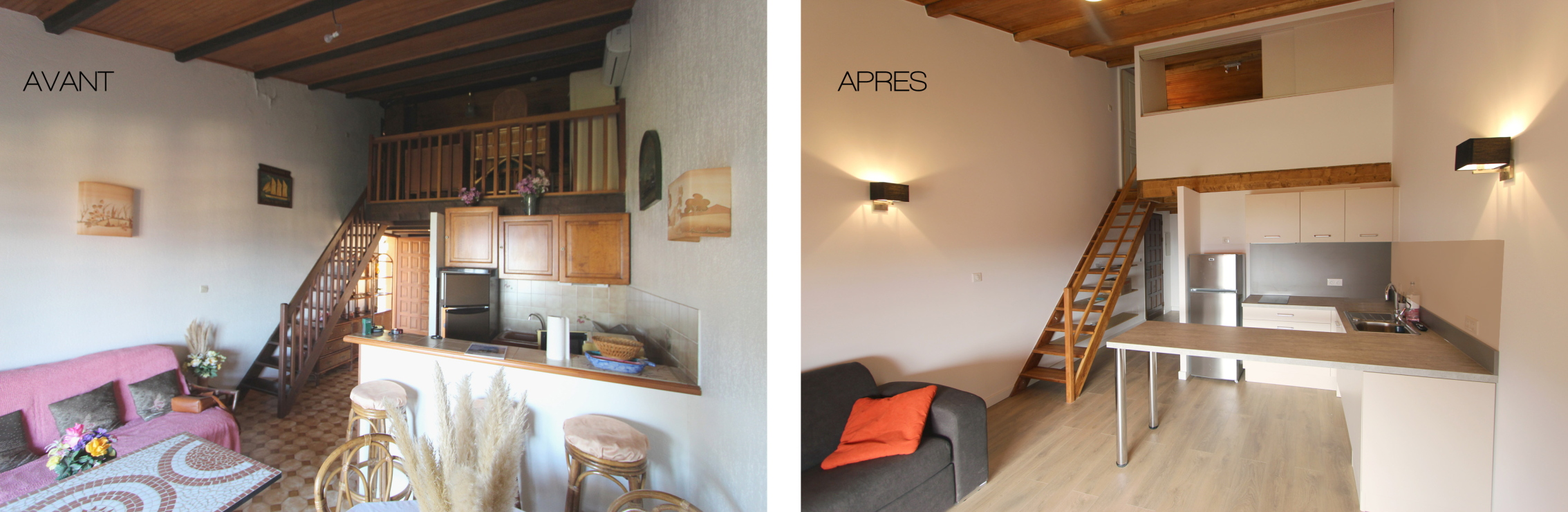 Renovation Appartement Avant Apres #10: Avant - Apres : Le Sejour