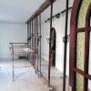 Préparation pour ouverture du mur porteur