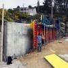 reconstruction du mur arrière